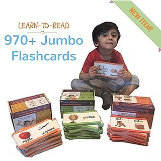 Learn to Read Alphabet, Phonics, Sight Words, Phrases & Sentence Story 970+ Flashcards - Babies, Toddlers, Preschool & K