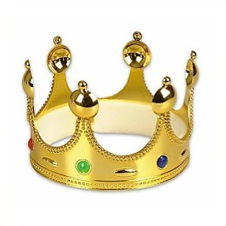 2 X Gold Queen King or Prince Crown