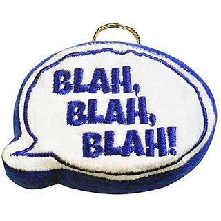 Just For Laughs Blah, Blah, Blah! Keychain (Blue)