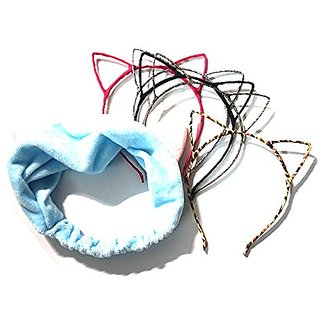 Manc GG Boutique Cat Ear Headband Headwear Hair Head Bands Hair Accessories for Women and Girls 6PCS