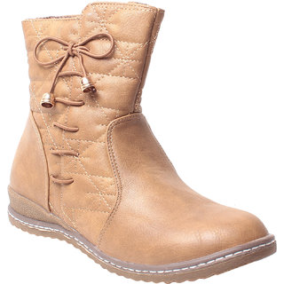 MSC-ANKLE LENGTH-BEIGE-BOOTS (MSC-RR82-5002-81-BEIGE BOOTS)