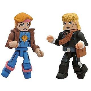 Diamond Select Toys Marvel Minimates Series 47: X-Men vs. Brood: Longshot and Dazzler, 2-Pack