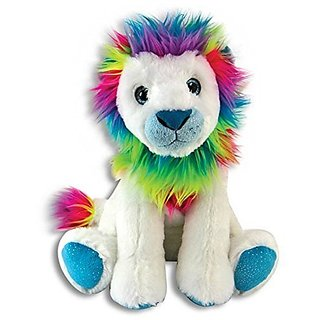 The Petting Zoo Plush Rainbow Lion - 11 Inches