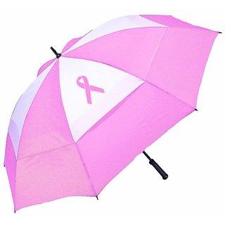 Bag Boy Pink Ribbon Wind Vent Umbrella