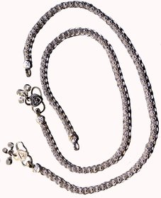 Ankit Collection Sterling Silver Anklet Set (Payal) for Women (AC200AKIV)