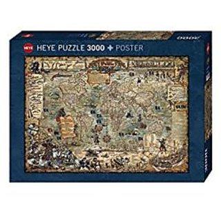 Heye Pirate World 3000 Piece Map Jigsaw Puzzle
