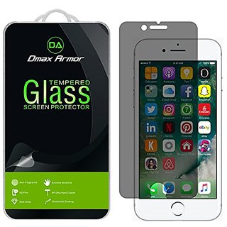 Apple iPhone 7 Plus Privacy Anti-Spy Glass Screen Protector, Dmax Armor [Tempered Glass] 0.3mm 9H Hardness, Anti-Scratch