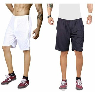 Black and white gym shorts