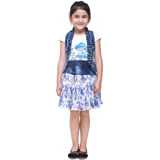 Meia for girls white Skirt top with Jacket