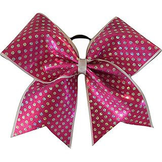 SBC Glitzy Fuchsia Pink Cheer Bow