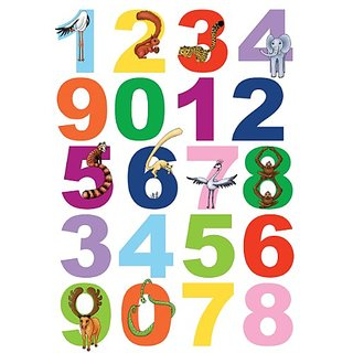Brewster Spirit 350-0100 Peel And Stick Numbers European Wall Decals