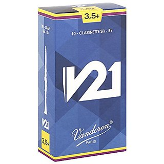 Vandoren Cr8035+ Bb Clarinet V21 Reeds Strength 3.5+; Box Of 10