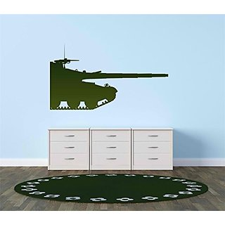 Army War Tank Equipment Vinyl Decal Color Green Size:8x20
