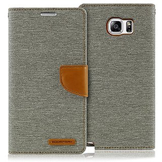 Galaxy NOTE 5 Case, [Drop Protection] GOOSPERY Canvas Diary [Denim Material] Wallet Case [ID Credit Card and Cash Slots]