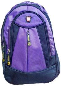 Purple Fabric School Bag