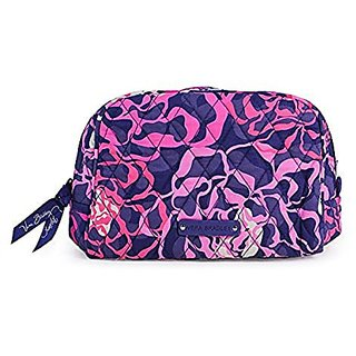 Vera Bradley Luggage WomenS Medium Zip Cosmetic Katalina Pink Luggage Accessory