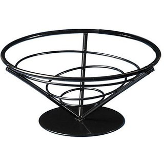 American Metalcraft FBB7 Wrought Iron Conical Bread Basket, Cone, 7-Inch