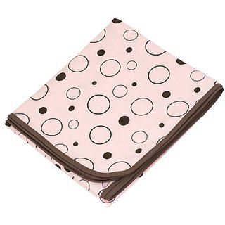 Kushies Receiving Blanket, Pink Crazy Bubbles