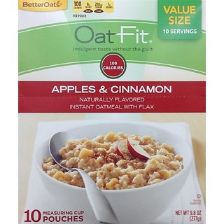 Better Oats OAT FIT Instant Oatmeal APPLES & CINNAMON 9.8oz - 3 Pack