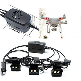 Fitian Car Charger Charge Hub for Phantom 2, Phantom 2 Vision, Phantom 2 Vision Plus with 1 Battery Charger Boards/ Plat