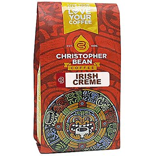 Christopher Bean Coffee Decaffeinated Whole Bean Flavored Coffee - Irish Creme - 12 Ounce