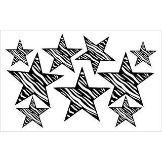 Wall Decor Plus More WDPM021 Black Zebra Print Star Wall Sticker Vinyl Sticker 8