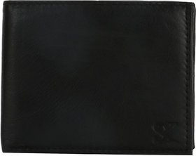 STYLER KING Black Genuine Leather Wallet for Men