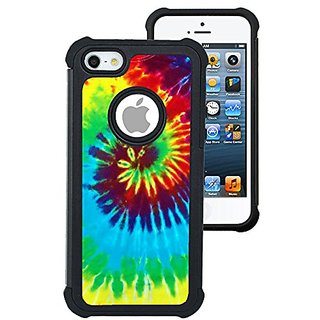 CorpCase iPhone 5 Case / iPhone 5S Case / iPhone SE Case - Tie Dye / Hybrid Unique Case With Great Protection