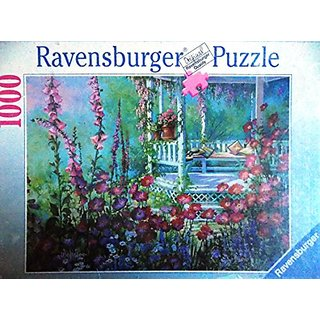 Ravensburger Pavillion in Blutenmeer 1000 Jigsaw Puzzle Pieces