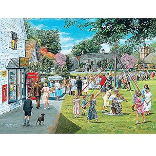 Bits and Pieces - 300 Piece Jigsaw Puzzle - May Day, Summer Town Fair - by Artist Trevor Mitchell - 300 pc Jigsaw