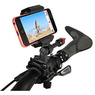 Bike Handlebar Mount iPhone 5 and 4 for Video GPS & Other Apps Fits All Handlebar Sizes and Phones