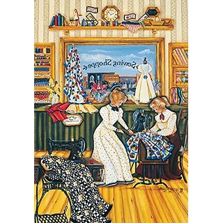 Sunsout 67966 500 Piece The Sewing Lesson Art And Craft Product