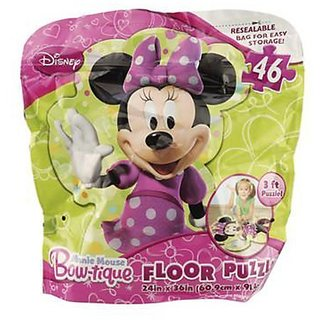 Minnie Mouse Bow-Tique Bagged 46 Piece Floor Puzzle With Extra Large Pieces For Easy Handling