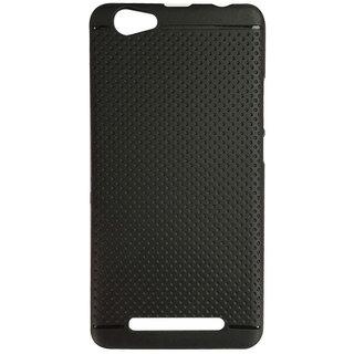 DKM Inc Soft Black Dotted Back Cover for Lenovo A6600