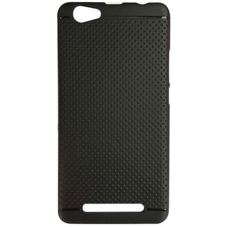 DKM Inc Soft Black Dotted Back Cover for Micromax Canvas Fire 5 Q386