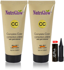 Nutriglow Complete Color Correction Creme With Gold Shimmer (Pack Of 2)