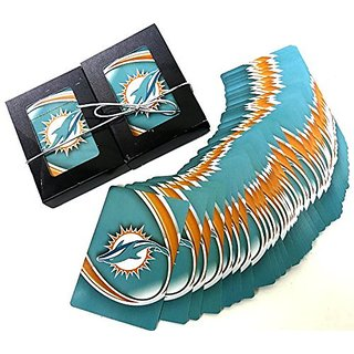 Miami Dolphins, Souvenir, Playing Cards, N.F.L, Double Deck Set