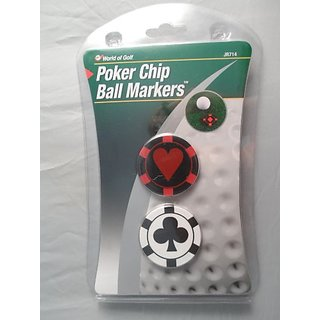 Poker Chip Golf Ball Markers 2 ct
