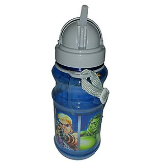 Marvel Avengers Flip Top Revealable Straw Water Bottle