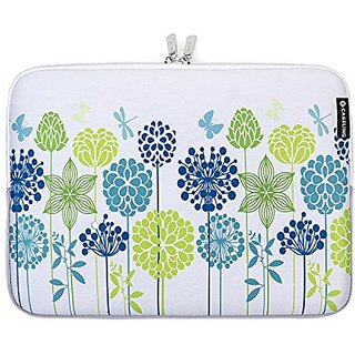 Caseling 14-Inch Neoprene Sleeve Pouch Case Bag for Laptop - Blue/ Green