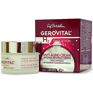 GEROVITAL H3 EVOLUTION, Anti-Aging Cream Intensive Restructuring With Superoxide Dismutase (The Anti-Aging Super Enzyme)