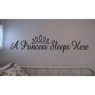 Wall Sticker Vinyl Lettering A Princess Sleeps Here Girls Room