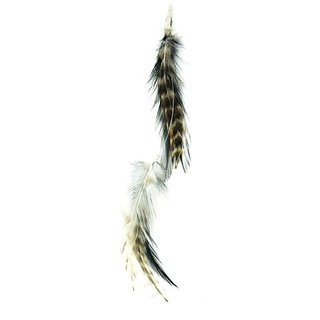 Designer Feathers 12744 Feather Hair Extension, White Hackle Feathers, 1 piece