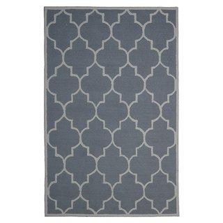 Handmade Wool Modern Silver/ Ivory 5x8 lt1314 Area Rug Carpet