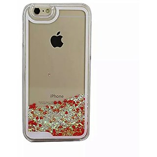 Sunday Gallery Flowing Liquid Water Floating Luxury Bling Glitter Sparkle Heart Hard Case Cover For iPhone 6S 4.7