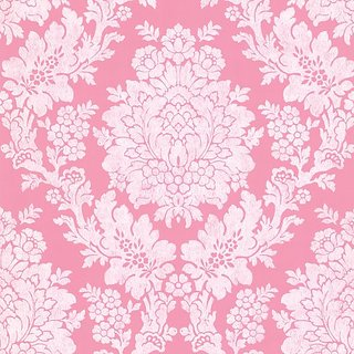 Beacon House 344-68712 Liza Roselle Damask Wallpaper, Pink