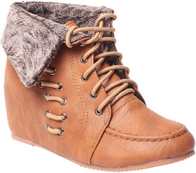 MSC-ANKLE LENGTH BROWN BOOTS (MSC-RR83-A29-14-BROWN-BOOTS)