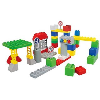 BlockLabo block lab vehicle block basic block set (japan import)