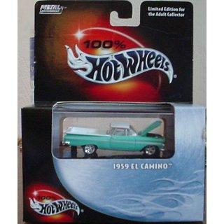 Hotwheels 100% 1959 EL CAMINO 1:64 scale Die Cast Metal Collection.