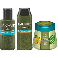 Trichup Scalp Nourishment Kit (Anti-Dandruff Oil (100ml), Anti-Dandruff Shampoo (200ml), Anti-Dandruff Cream 200ml) (PAC